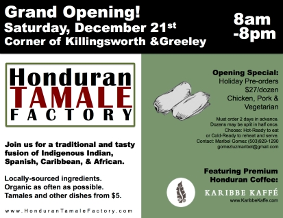 Grand Opening Tamale Factory Flyer